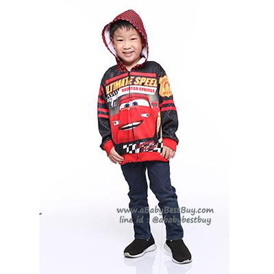 """ฮ """" Size S-M-L """" เสื้อแจ็คเก็ต Jacket Disney Cars เสื้อกันหนาว เด็กผู้ชาย สกรีนลาย คาร์ สีแดง รูดซิป มีหมวก(ฮู้ด)สีดำ ใส่คลุมกันหนาว กันแดด ใส่สบาย ดิสนีย์แท้ ลิขสิทธิ์แท้"""