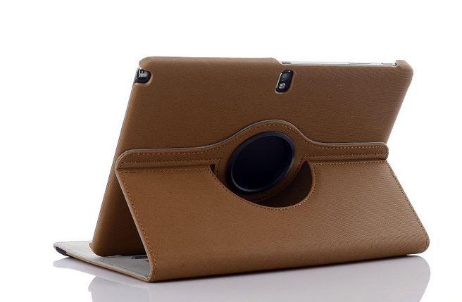 พร้อมส่ง เคสซัมซุงโน๊ต 10.1 2014 editionใส่นามบัตร สีน้ำตาล หมุ่น 360 องศา (ส่งฟรี EMS)