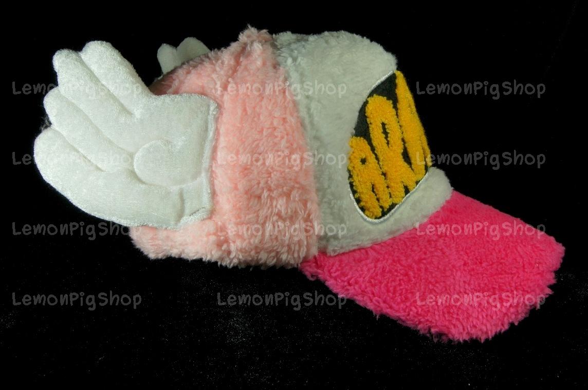 หมวก ARALE อาราเล่ รุ่นขนปุย สีชมพู ขาว 3 โทน