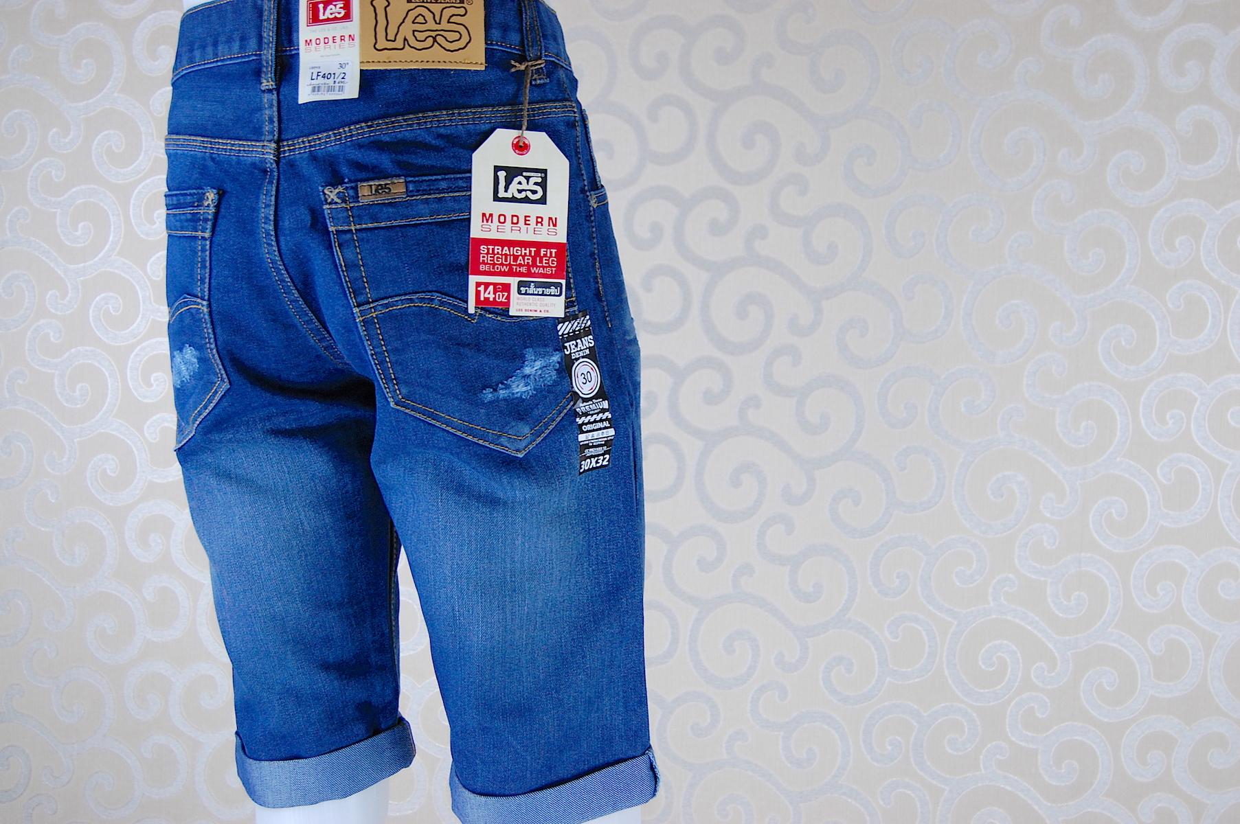 กางเกงยีนส์ขาสั้น LF401-2--5