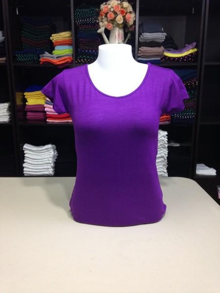 """เสื้อยืดคอกลม สีม่วงราเวนเดอร์ size """"M"""""""
