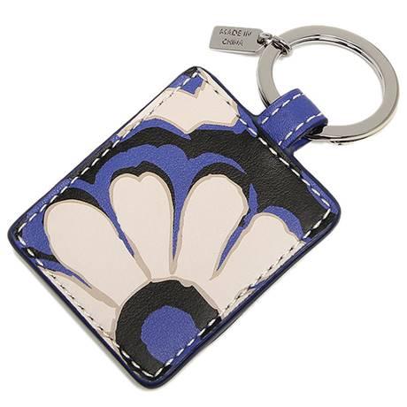 สินค้าพร้อมส่ง » พวงกุญแจ COACH 66317 SVBTA key ring floral picture frame silver / black