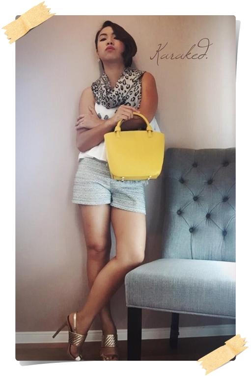 สินค้าพร้อมส่ง » กระเป๋าหนังแท้ Karaked laura saffiano leather satchel crossbody Handbag Yellow 005