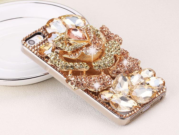 เคสไอโฟน 6 เคส Rhinestone สีทองหรูหราสง่างามประดับไดมอนด์ iPhone6 Case