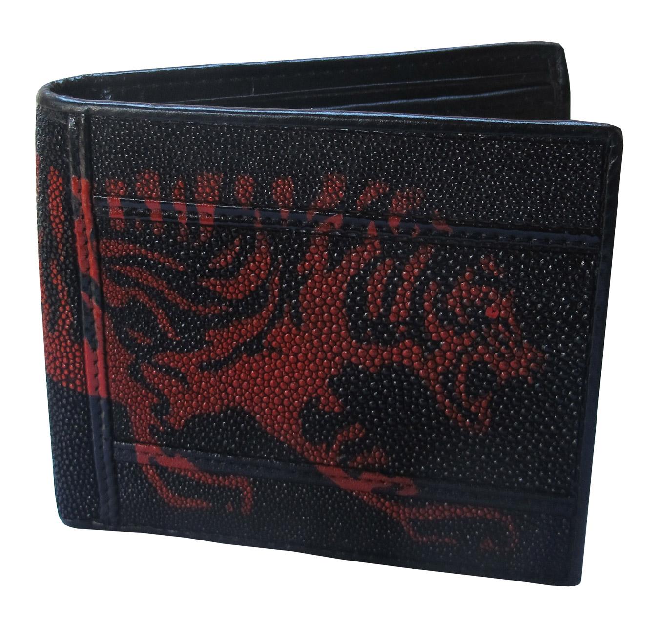 กระเป๋าสตางค์ปลากระเบน ลายเสือแดง