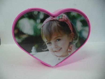 กรอบรูปหมุนได้รูปหัวใจ สีชมพู