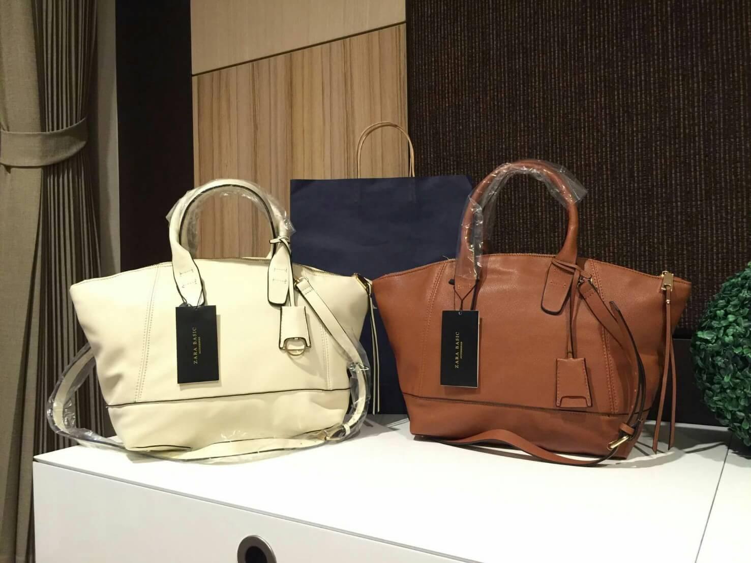 Zara Soft City Bag กระเป๋าสะพายหนังแกะสังเคราะห์เนื้อนิ่มเรียบ รุ่นใหม่ มี 2 สี