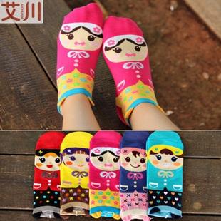 S287**พร้อมส่ง** (ปลีก+ส่ง) ถุงเท้าแฟชั่นเกาหลี ลายการ์ตูน ข้อยาว เนื้อดี งานนำเข้า(Made in China)