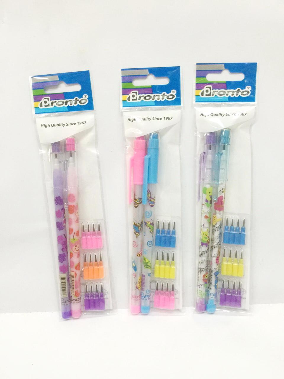 เซ็ตดินสอต่อไส้ 2 ด้ามพร้อมรีฟิล (ขายส่งกระป๋อง 20 ชุด)