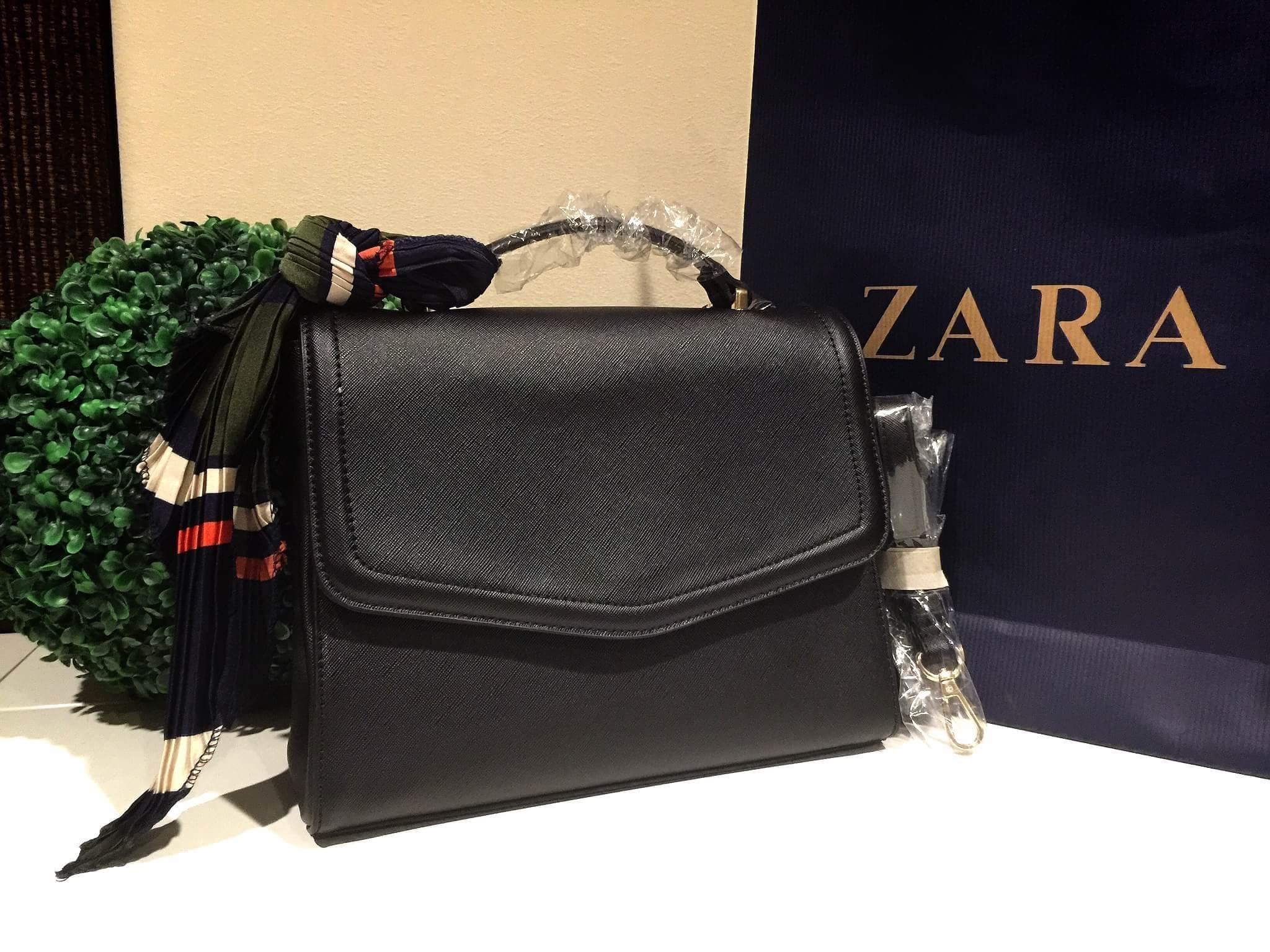 ZARA Convertible Backpack With Scarf 2016 ทรงสวยหรูสไตล์ PRADA