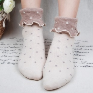 S128**พร้อมส่ง** (ปลีก+ส่ง) ถุงเท้าแฟชั่น ลูกไม้ญี่ปุ่น เนื้อดี งานนำเข้า(Made in china) มี 10คู่/แพ็ค