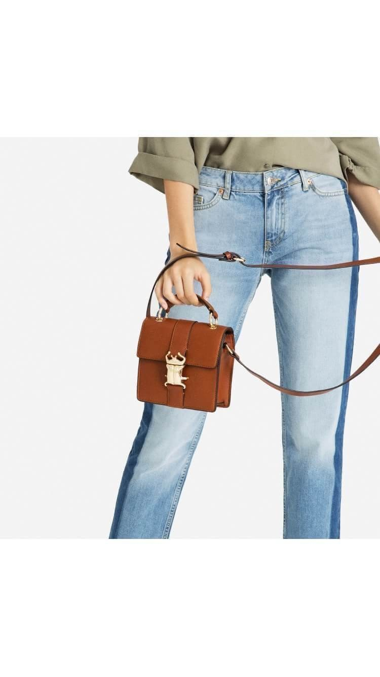 ZARA CROSSBODY BAG WITH METALLIC CLOSURE