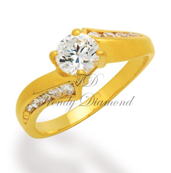 แหวนเพชร แหวนทวิตตี้ สีทอง
