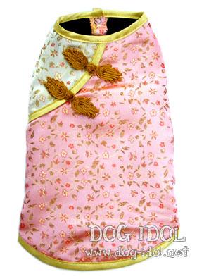 **ไซส์ 3 พร้อมส่งค่ะ** เสื้อจีนลายดอกไม้ โทนชมพู