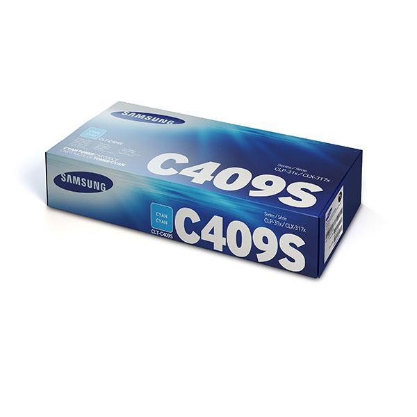 Samsung CLT-C409S ตลับหมึกโทนเนอร์ สีฟ้า ของแท้ Cyan Original Toner Cartridge (SU007A)