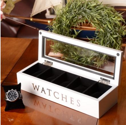 กล่องนาฬิกา งานไม้สนสีขาว