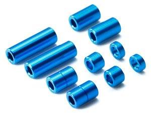 Alu Spacer 5 Types *2 each Blu