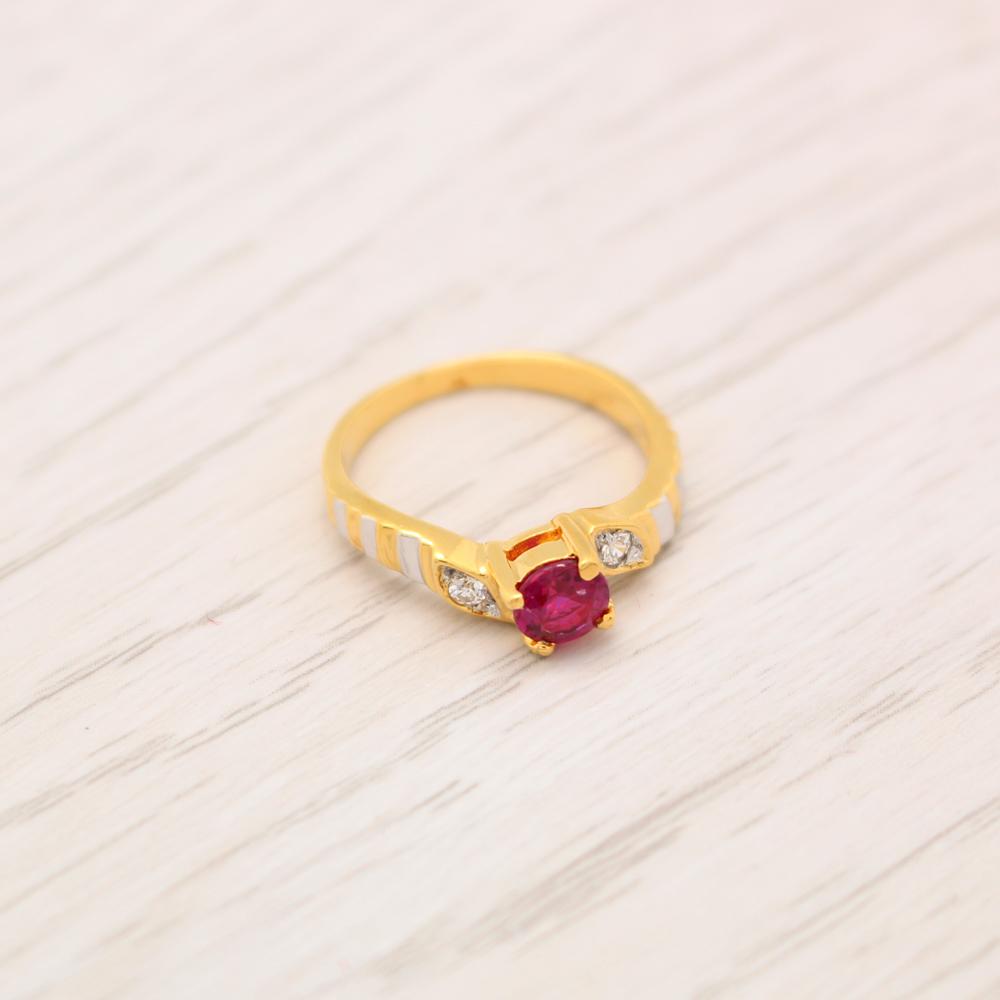แหวนเพชรCZ สีทองคำแท้ ไซส์ 49