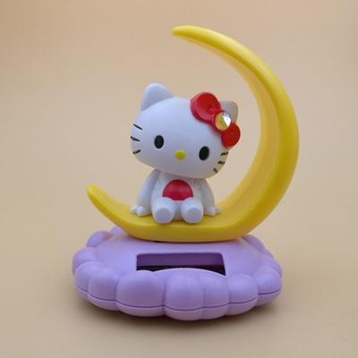 อุปกรณ์แต่งรถยนต์ Hello Kitty โบว์แดง ดุ๊กดิ๊กพลังงานแสงอาทิตย์