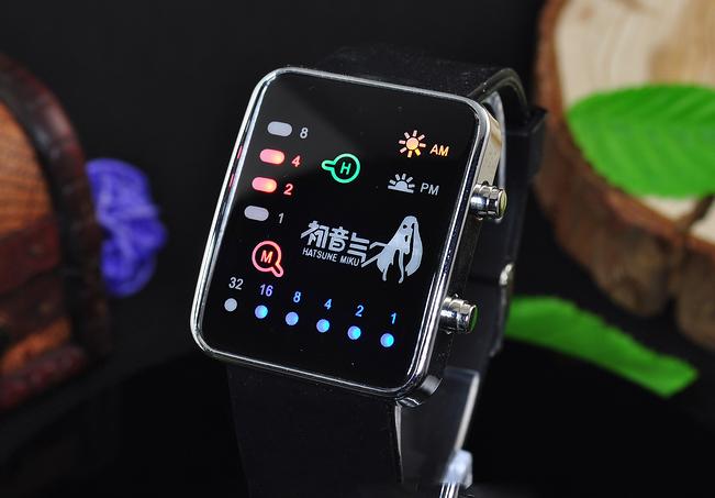 นาฬิกา LED Hatsune Miku(สีดำ)