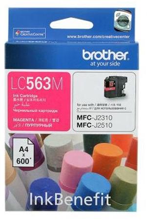 Brother LC-563M ตลับหมึกอิงค์เจ็ท สีม่วงแดง Magenta Original Ink Cartridge
