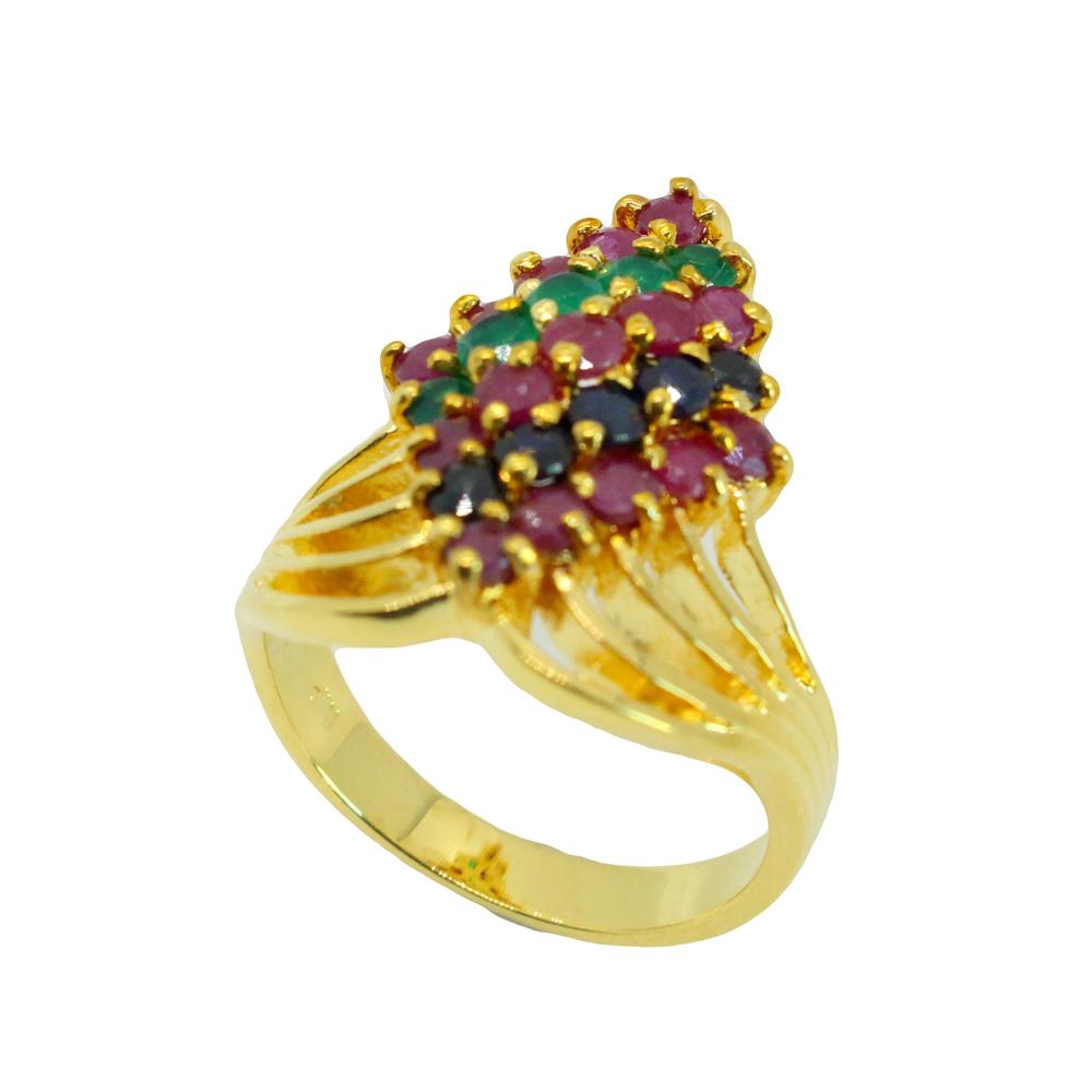 แหวนพลอยแท้ หุ้มทองคำแท้ ไซส์ 51