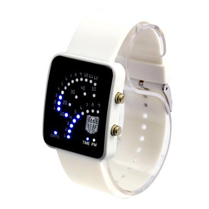 นาฬิกาข้อมือ LED Attack On Titan(สีขาว)
