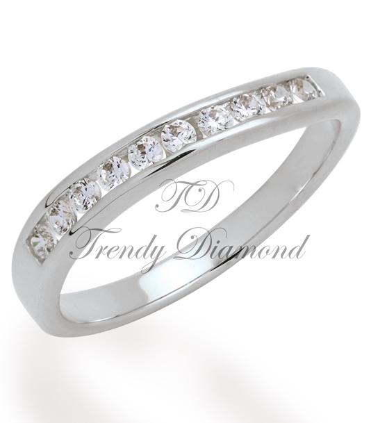 แหวนเพชรเกลียวล็อค สีทองคำขาว