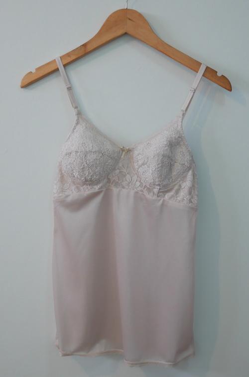 jp3659 เสื้อซับใน/เสื้อชั้นในยาว ผ้าไนลอนสีเนื้อ รอบอกไซค์ A75