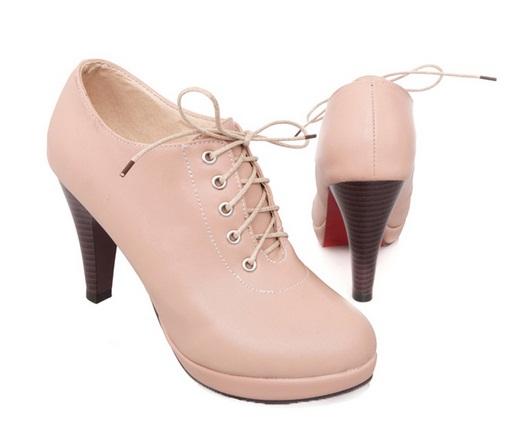 รองเท้าส้นสูง ผูกเชือก สไตล์เกาหลี