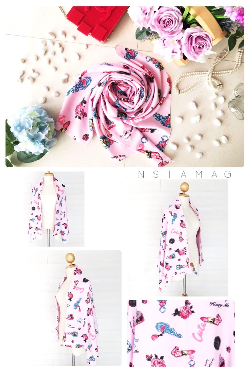 ผ้าพันคอ พร้อมกล่องของขวัญ รุ่น Valentine's Date Night in Cotton Pink (Size M) ผ้าพันคอสีชมพูหวานเย็นลายเครื่องสำอาง มีของขวัญไว้เซอร์ไพรซ์แฟนกันหรือยังคะ นี่เลยค่ะ!!! ของขวัญสุดเซอร์ไพรซ์ให้แฟนของคุณในวันวาเลนไทน์นี้ น่ารักมาก ฟรุ้งฟริ้งกรุ้งกริ้งสุ