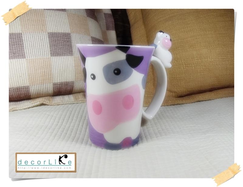 แก้วมักเซรามิครูปวัว