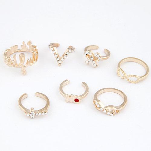 [Set 7 ชิ้น] แหวนข้อนิ้ว Word Personality