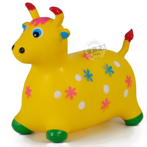 ตุ๊กตากระโดด เด้งดึ๋งวัวสีเหลือง ฟรีค่าจัดส่ง