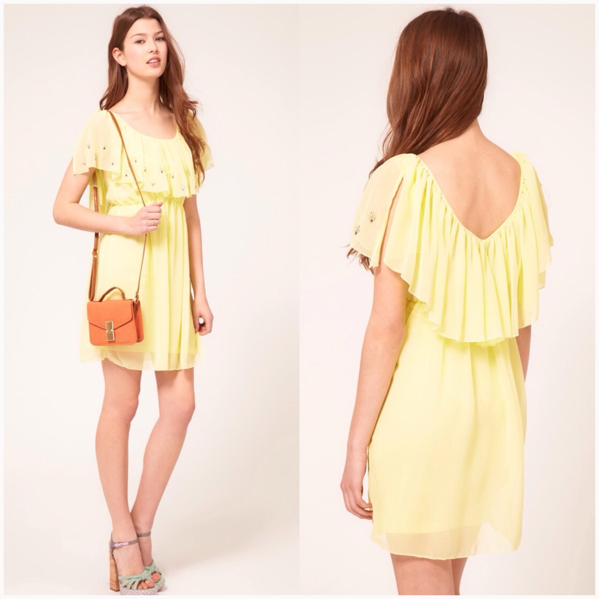 Lipsy Chiffon Dress Size uk8-uk10