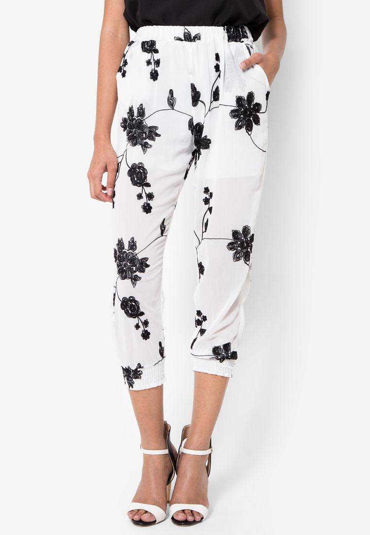 กางเกง Jasmine Floral Embroidered