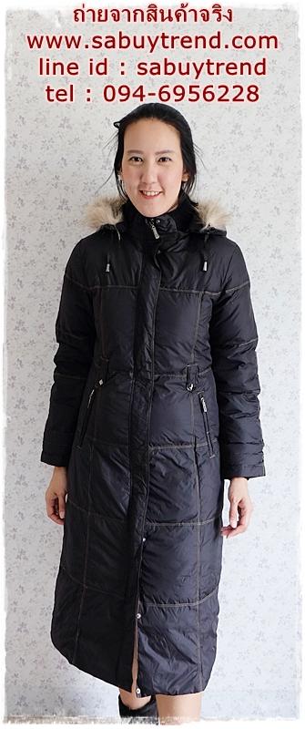 ((ขายแล้วครับ))((คุณWaratayarจองครับ))ca-2863 เสื้อโค้ทขนเป็ดสีดำ รอบอก38