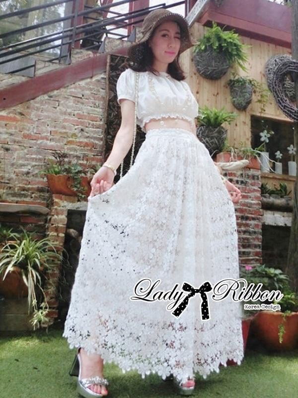 Lady Ribbon Lady Elsa Fairy Tale White on White Set