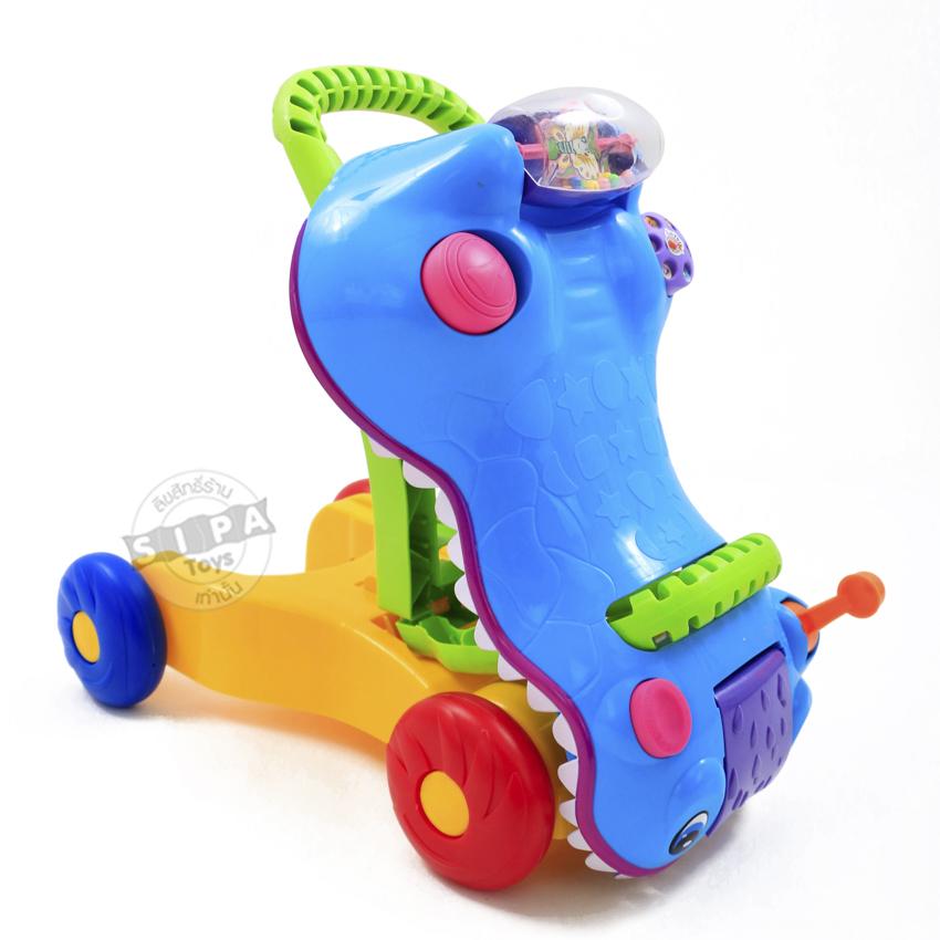 รถผลักเดินรูปจระเข้ 2 in1 สีฟ้า...ฟรีค่าจัดส่ง