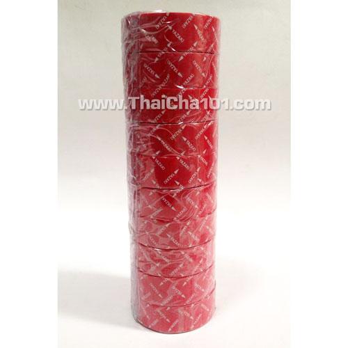 เทปพันสายไฟYAZAKI สีแดง(แถวละ10ม้วน)