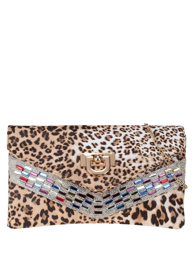 กระเป๋าคลัทช์ V-Line Crystal