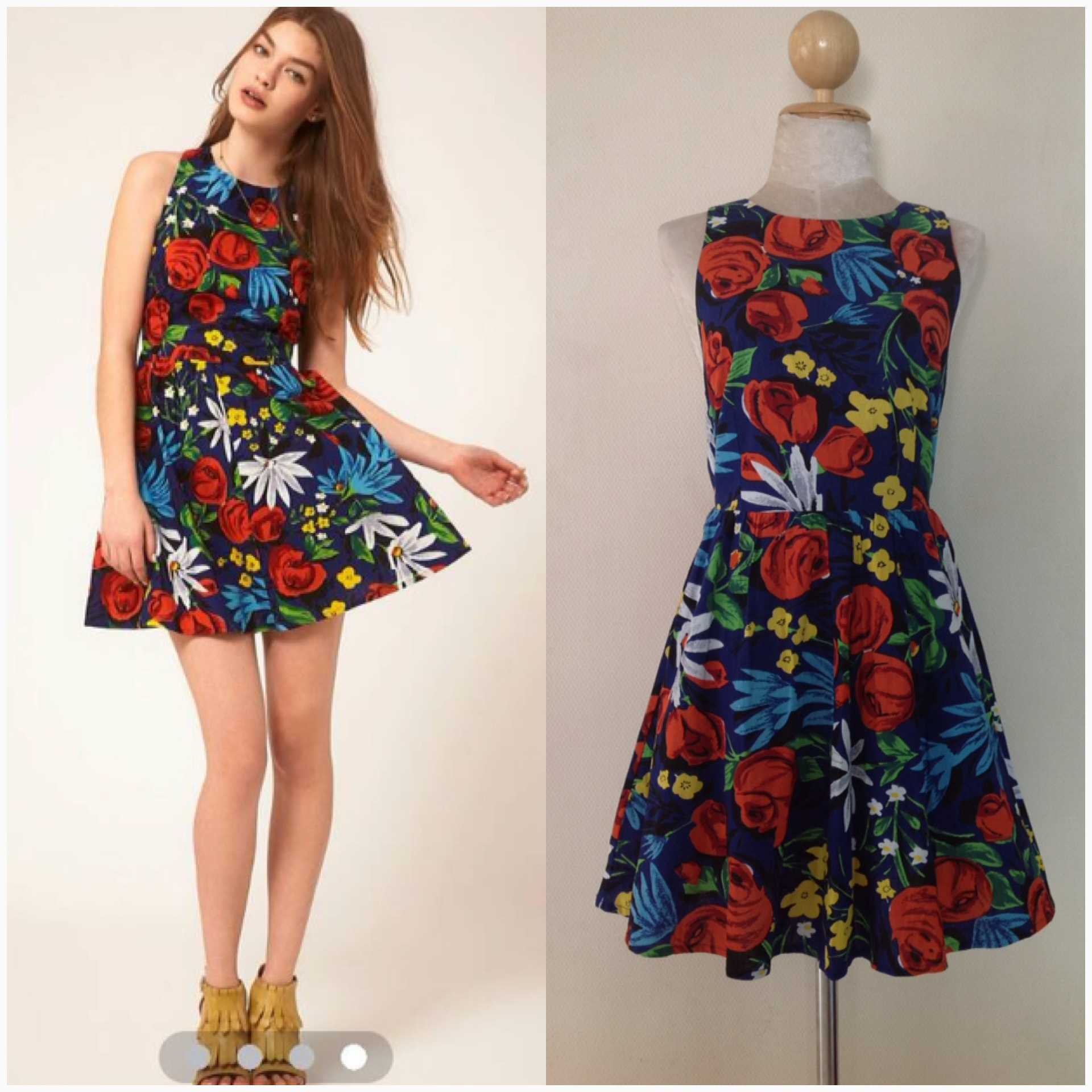 ASOS Flower Dress Size Uk10